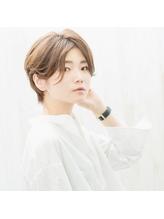◇nico◇エアリーショート・ひし形ショート・グレージュ.35