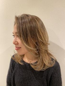 外国人風バレイヤージュグラデーションカラー【船橋/西船橋】