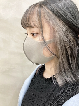 *【SUN】ペールホワイトグレーインナーカラー haruki