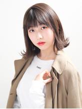 【MODEK's調布】イルミナカラー風ブランジュ外ハネミディ.45