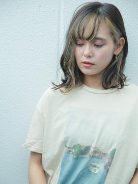 前髪ハイライト/ハイトーンカラー/インナーカラー