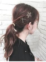 写真でオーダーしやすい★ ゴールドピンが可愛いヘアアレンジ 面接.50