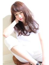 [斜めバング]大人気マーメイドアッシュ!小顔ハニーヘア!★★★ 好感度.45