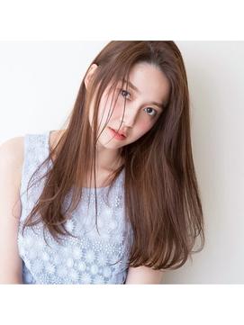 【GARDEN伊藤愛子】前髪なしのうるつやノームコアロングヘア