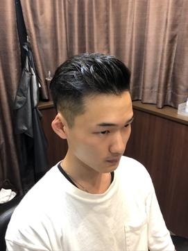 震災刈り×ポンパドール【浜松町/理容室/メンズ】