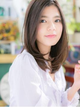 ★大人かわいい毛先パーマ黒髪美髪ストレート20代30代40代★6!