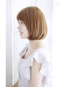 吉祥寺3分/前髪ココアブラウン大人かわいいフリンジウェーブ/068