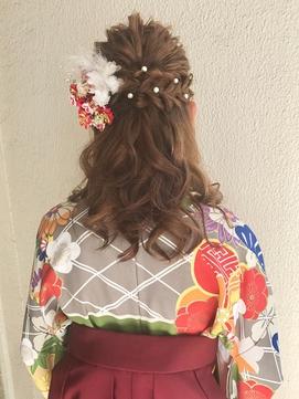 ♪袴スタイルハーフアップ♪