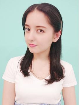 小顔でかわいいロング[池袋/縮毛矯正/髪質改善/インナーカラー]