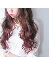 TECHRISE★インナーカラー♪アッシュ×ベイビーピンクby角谷 巻き髪.49