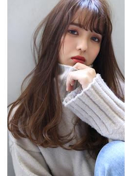 【Blanc/天王寺】毛先パーマ/ベリーブラウニー/ロングms