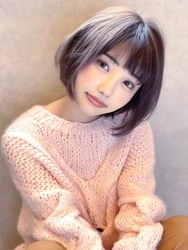 《Agu hair》大人かわいい透け感カラー×ショート