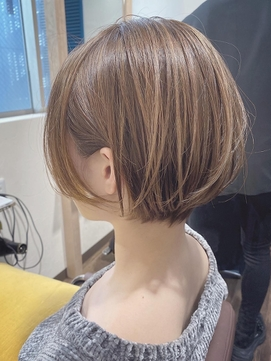 ハイライト/丸みショートボブ/モテ髪カタログ/ベージュ