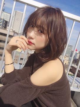 【ARCHE上田】大人ボブ無造作カール&ナチュラルブラウンカラー