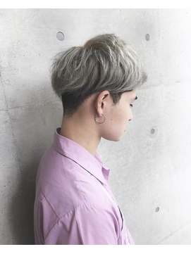 【STAND By  HAIR】MEN'Sグレイッシュショート