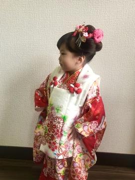 日本髪風アップ
