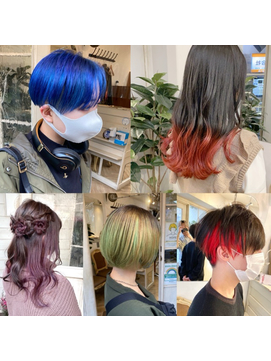 体育祭文化祭ヘアセットハデ髪カラーダブルカラー梅ヶ丘美容室