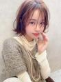 《Agu hair》前髪チーク★無雑作ボブ