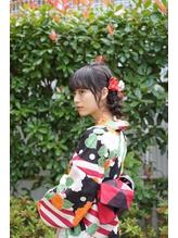 編み込みシニヨン♪ 浴衣着付け・アレンジ【neolive collet】 まとめ髪.31