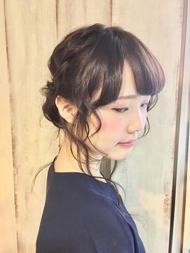 AnFyeforprco】人気のルーズ編み込みアップ☆花嫁様にも♪
