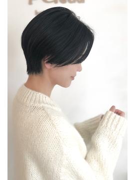 小顔サイド大人かわいい 黒髪ハンサムショートBelead恵比寿 関田