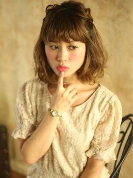 ☆あんにゅい~ルーズまとめ髪☆極太裏編み込み☆