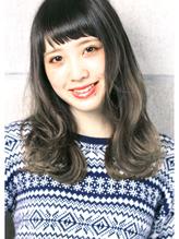 ☆『 プラチナグレージュ × 外国人クセ毛風  』 semi long  ☆ 大人カワイイ.46