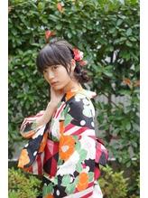 編み込みシニヨン♪ 浴衣着付け・アレンジ【neolive collet】 まとめ髪.13