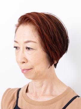 【えがお美容室】50代60代に◎似合わせフロントアップショート