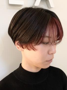 【KAILA】インナーピンクシースルーバングショート☆高野担当