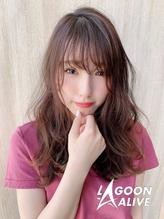 LAGOON ALIVE 亀田一磨 ☆天使の羽バング×ラベージュ☆.58