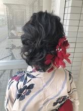 浴衣 着物 パーティー 成人式 卒業式 ヘアアレンジ.0