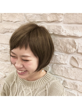 【ZONNE】艶髪ショート眉上斜めバング