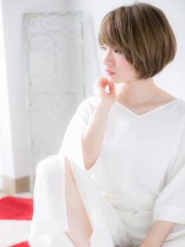 【北千住美容院HANARE】ブロンドカラー×大人クールショート♪e