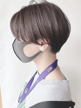 【morio 原宿】マッシュショート 刈り上げ女子