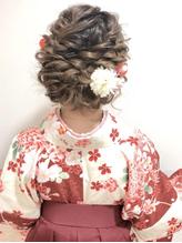 卒業式 袴 成人式 振袖 ルーズ ヘアアレンジ 卒業式.36