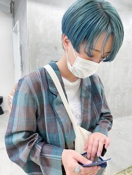 *【SUN】エメラルドブルーショート