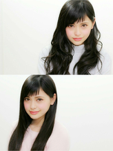 【An nelle】暗髪ベビーバングロング☆ セクシー.36