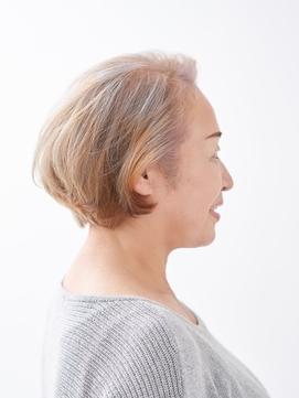 【えがお美容室】50代60代に人気◎ヘアセットが簡単 ひし形ボブ