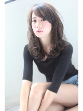 【Mariabyafloat】30.40代ワイドバングモーブカラーセミロング