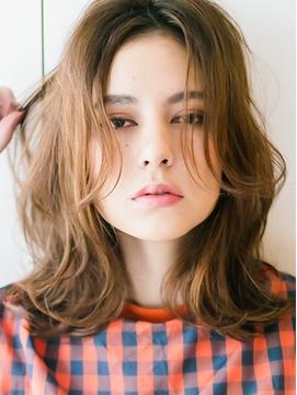 【花本】長め前髪のアンニュイセミディ