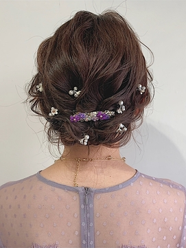 ミディアムのヘアセット