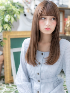 黒髪も◎大人かわいい艶カラーストレートa川口20代30代40代