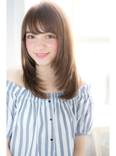 NORA【ERI】小顔似合わせカット艶アッシュナチュラルストレート シャギー.14