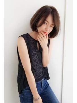 【Ramie 新谷千絢】大人カジュアルな前髪なしワンレンボブ