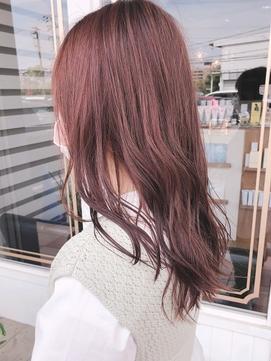 【ルチュラ YUSHI】春夏カラー ピンクベージュ ブリーチなし