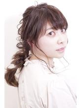 【お呼ばれヘア】ゆるかわ編みおろしアレンジ.56