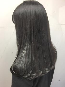 オルチャン暗髪ネイビーブラック