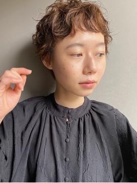 【石川】顔周り/カーキグレージュ/大人かわいい/ロング/ボブ