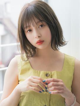 【aRietta】シースルーバング × オリーブベージュ 外ハネボブ★